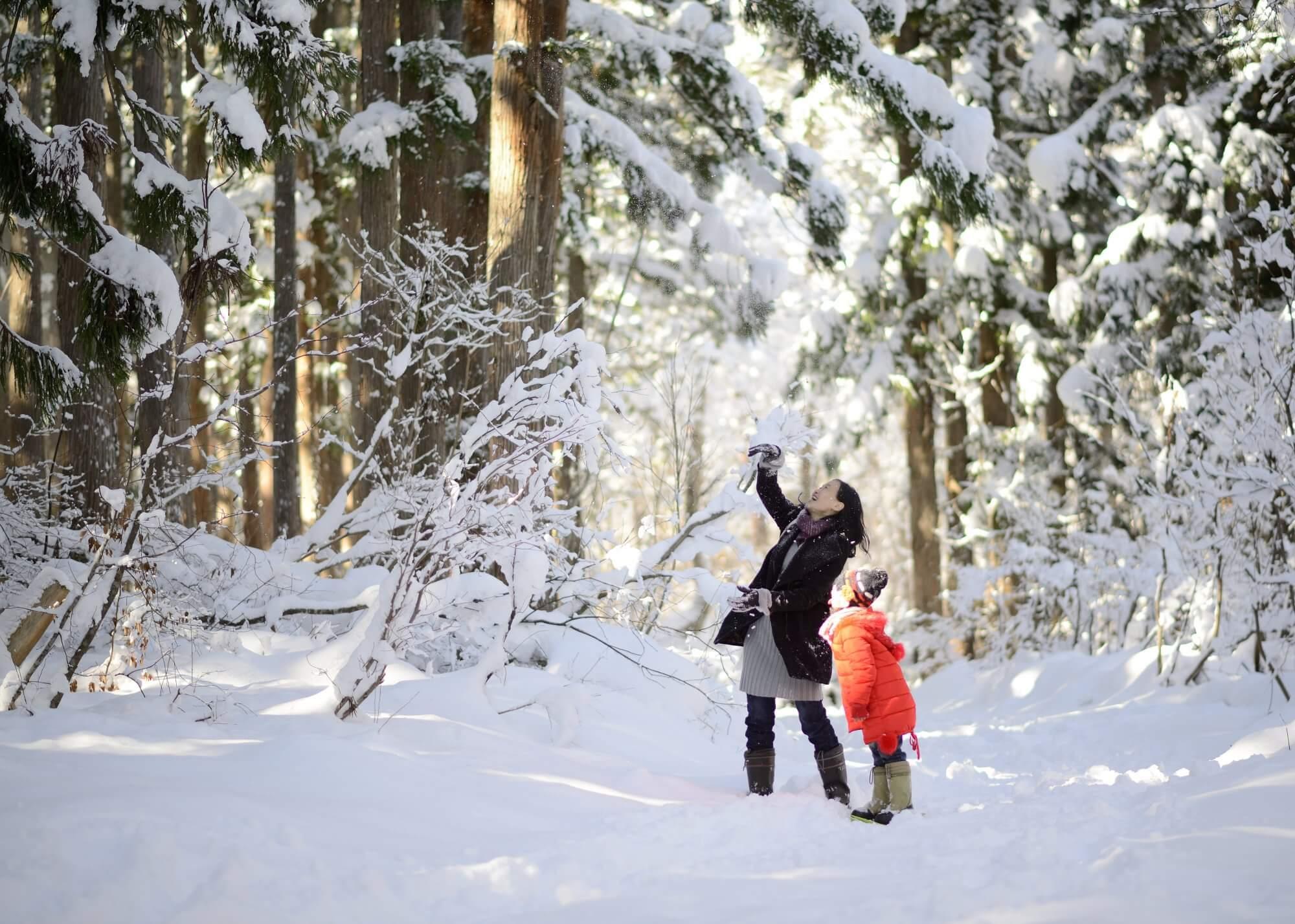 1組限定!「家族だけの雪遊び貸切プラン」
